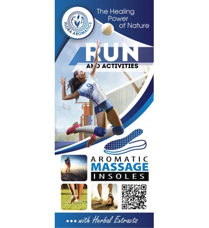 "Aromatic Massage insoles "" Run and Activities""  with Herbal Extracts"