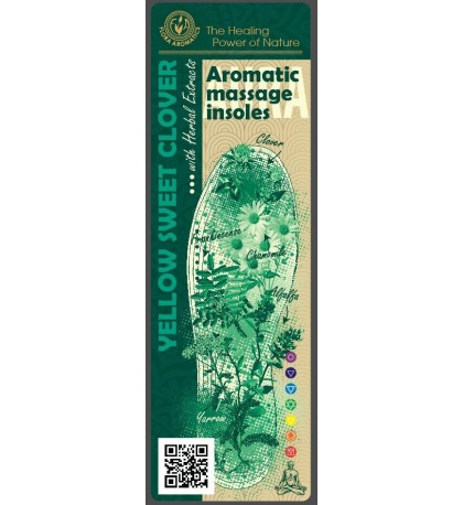 """Aromatic Massage insoles """" Yellow Sweet Clover """" with Herbal Extracts"""