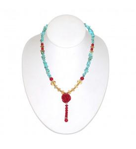 Hawaiian Natural Turquoise Necklace The work of the Hawaiian Masters COR 12
