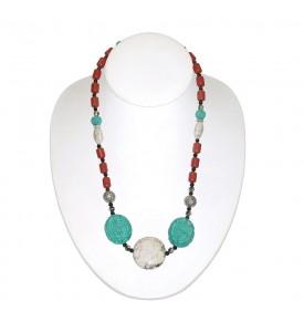 Hawaiian Natural Turquoise Necklace The work of the Hawaiian Masters COR 13