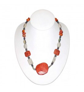 Hawaiian Coral Necklace With Natural Red Corals  Hand Made  Work of the Hawaiian Masters COR 9