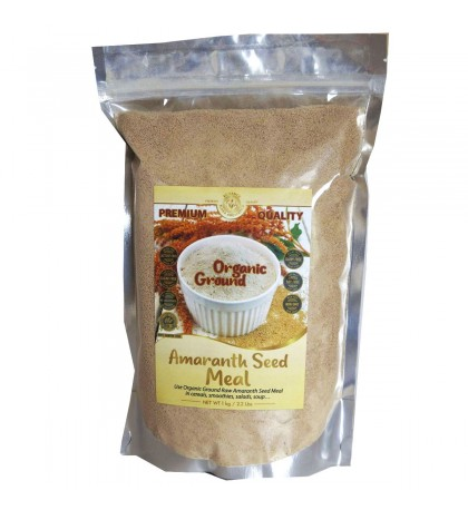 Organic Ground Raw Amaranth Seed Meal 2.2 Lbs. / 1 kg.