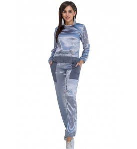 Miroslava Women's Jogging Suit Gray size ( 8, M, 46 )