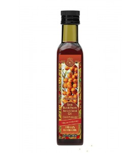 SEA BUCKTHORN OIL ( SEED & BERRIES / 300 CAROTENOIDS) COLD PRESSED VIRGIN ORGANIC 16.8 FL.OZ / 500 ML
