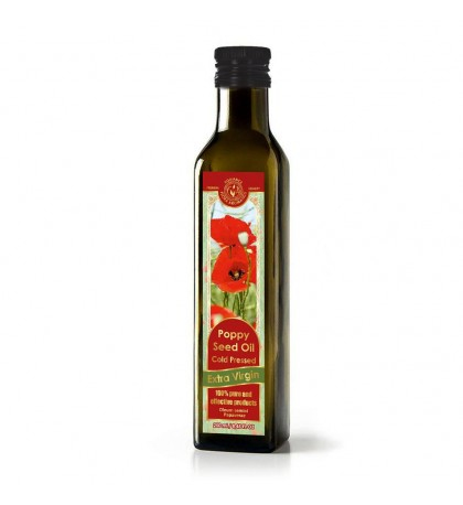 Extra Virgin Cold Pressed Poppy Seed Oil 8.45 FL OZ / 250ML