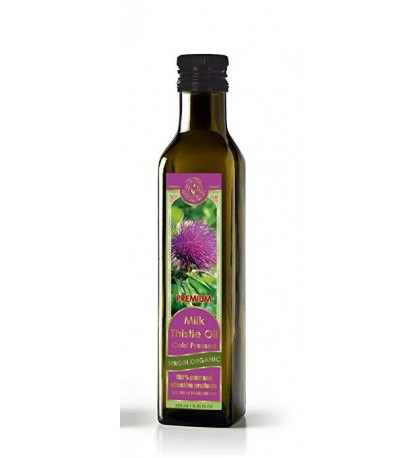 Milk Thistle Oil Cold Pressed Virgin Organic 8.45 fl oz/250 ml