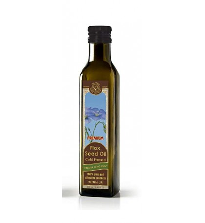 Flax Seed Oil Cold Pressed Virgin Organic (8.45 fl oz/250 ml)