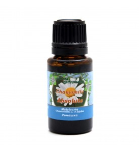 Flora Aromatics Chamomile (German Blue) Essential Oil 3% Jojoba 0.5 fl oz/15 ml