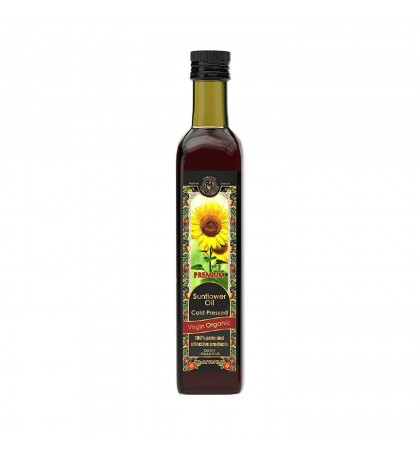 Sunflower Oil Cold Pressed Virgin Organic 16.9 fl oz/500 ml