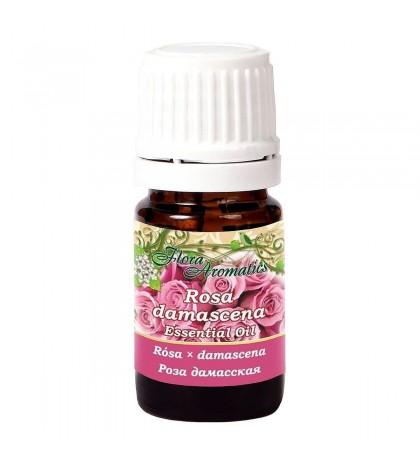 Flora Aromatics Rose Essential Oil 0.5 ml, 100% Pure Therapeutic Grade, Absolute