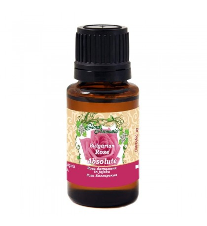 Flora Aromatics Rose Bulgarian Essential Oil 5% in Jojoba (Absolute) 0.5 fl oz/15 ml