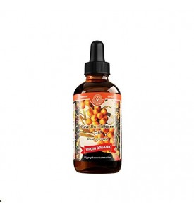 Sea Buckthorn Oil Cold Pressed Virgin Organic (4 fl oz/120 ml)