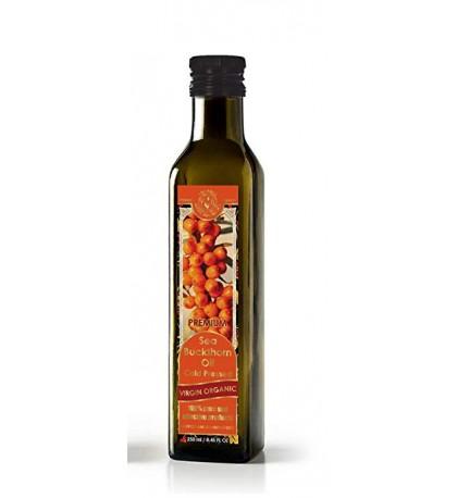 Sea Buckthorn Oil Cold Pressed Virgin Organic 8.45 fl oz/250 ml