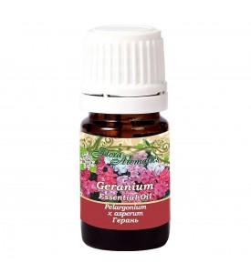 Flora Aromatics Geranium Bourbon Essential Oil 0.17 Fl Oz/5 Ml