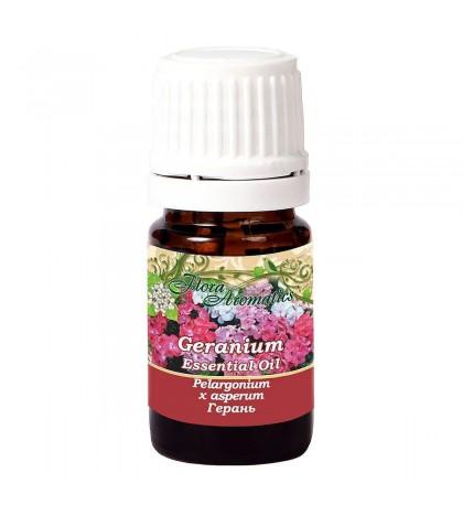 Flora Aromatics Geranium Bourbon Essential Oil 0.17 Fl Oz/5 Ml