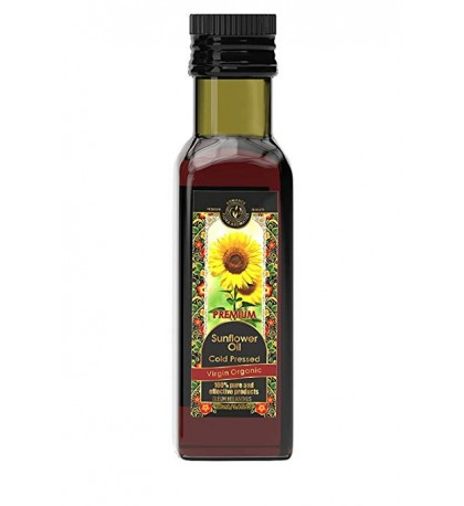 Sunflower Oil Cold Pressed Virgin Organic (3.4 fl oz/100 ml)