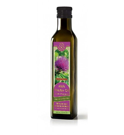 Milk Thistle Oil Cold Pressed Virgin Organic 16.9 fl oz/500 ml