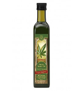 Organic Hemp Seed Oil Cold Pressed Virgin 16.9 FL OZ / 500 ML