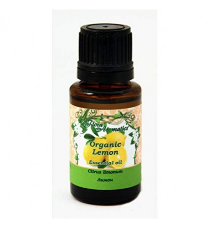 Organic Lemon 100% Pure Essential Oil 0.5 fl oz/15 ml