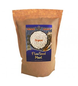 Organic Ground Raw Flax Seed Meal  2.2 lbs/1 kg