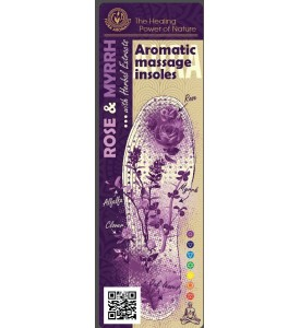 "Aromatic Massage insoles ""ROSE & MYRRH"" with Herbal Extracts"