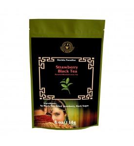 Strawberry Black Tea Flavored Blended Loose Tea, 4oz