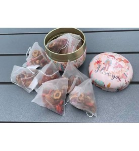 Longan Red Date Red Goji Berry Rocky Sugar Beauty and Blood Tonic Tea 10pack + Gift Box