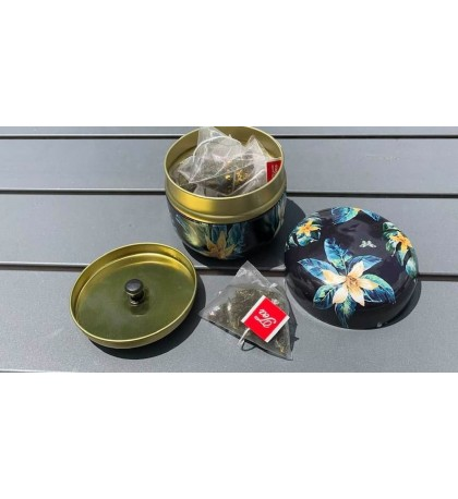 Osmathus Oolong Flavored Tea 10 Triangle Bags Mini Tin Cans Gift Packages