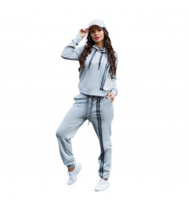 Miroslava Women's Sweatsuit Set Hoodie and Pants Sport Suits Tracksuits size (10, L, 48)