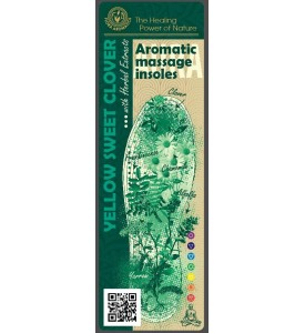 "Aromatic Massage insoles "" Yellow Sweet Clover "" with Herbal Extracts"